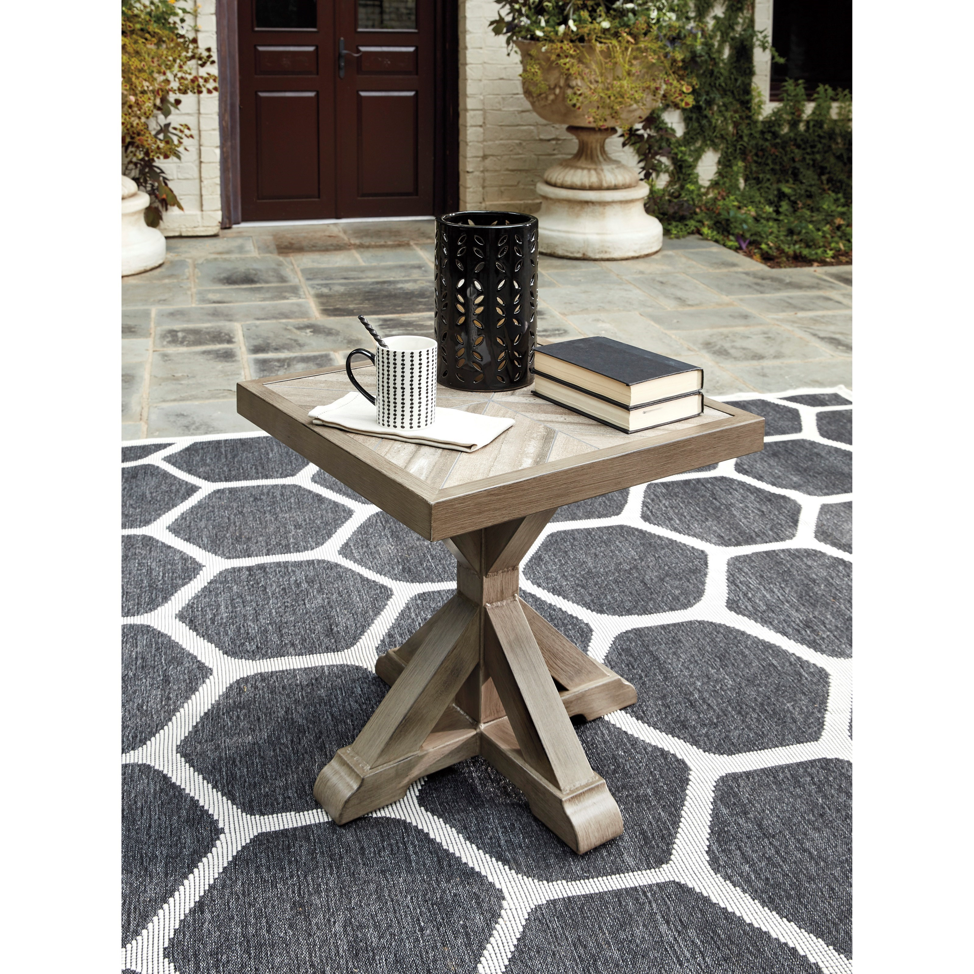 Beachcroft Square End Table by Signature Design by Ashley at Lapeer Furniture & Mattress Center