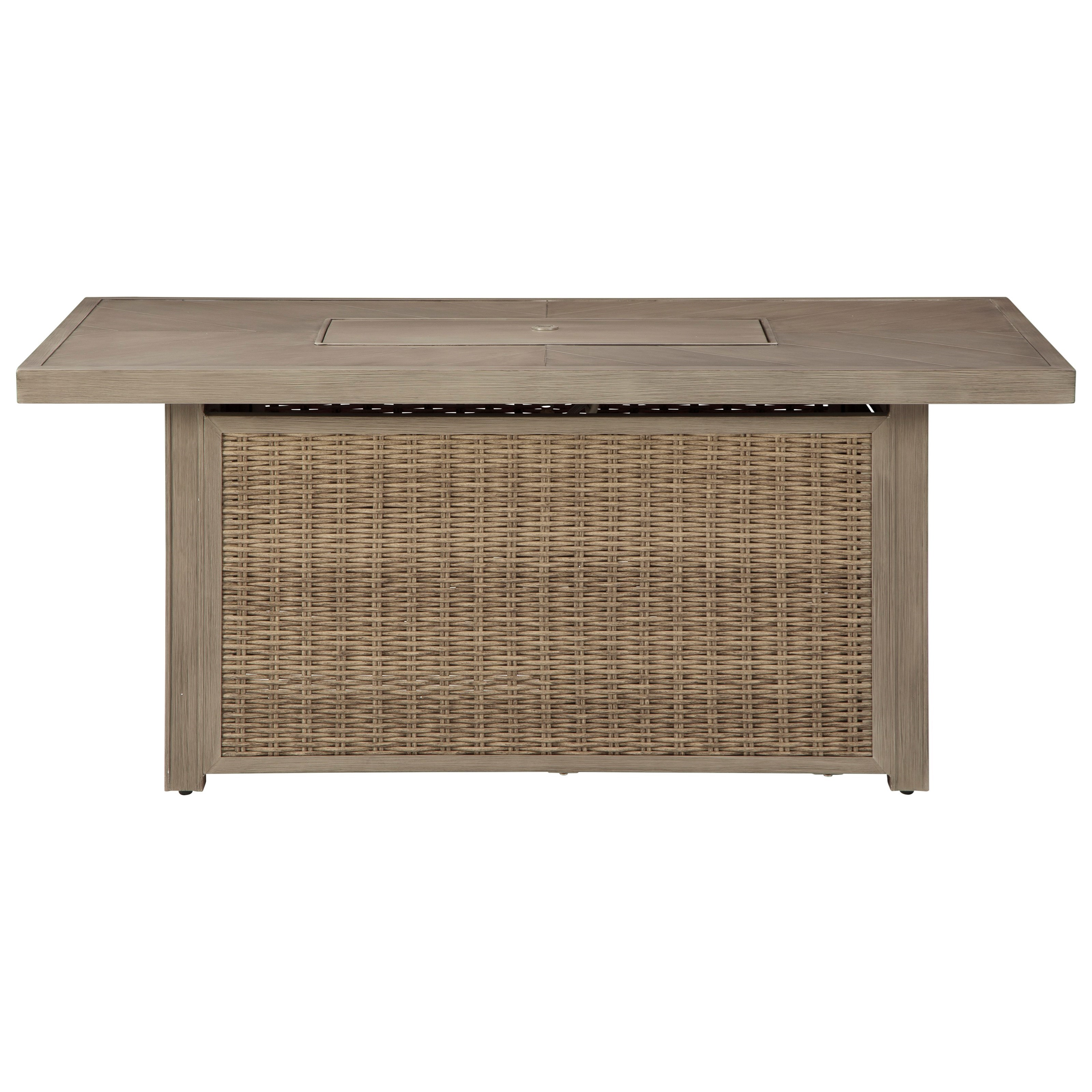 Beachcroft Rectangular Fire Pit Table by Signature Design by Ashley at Houston's Yuma Furniture