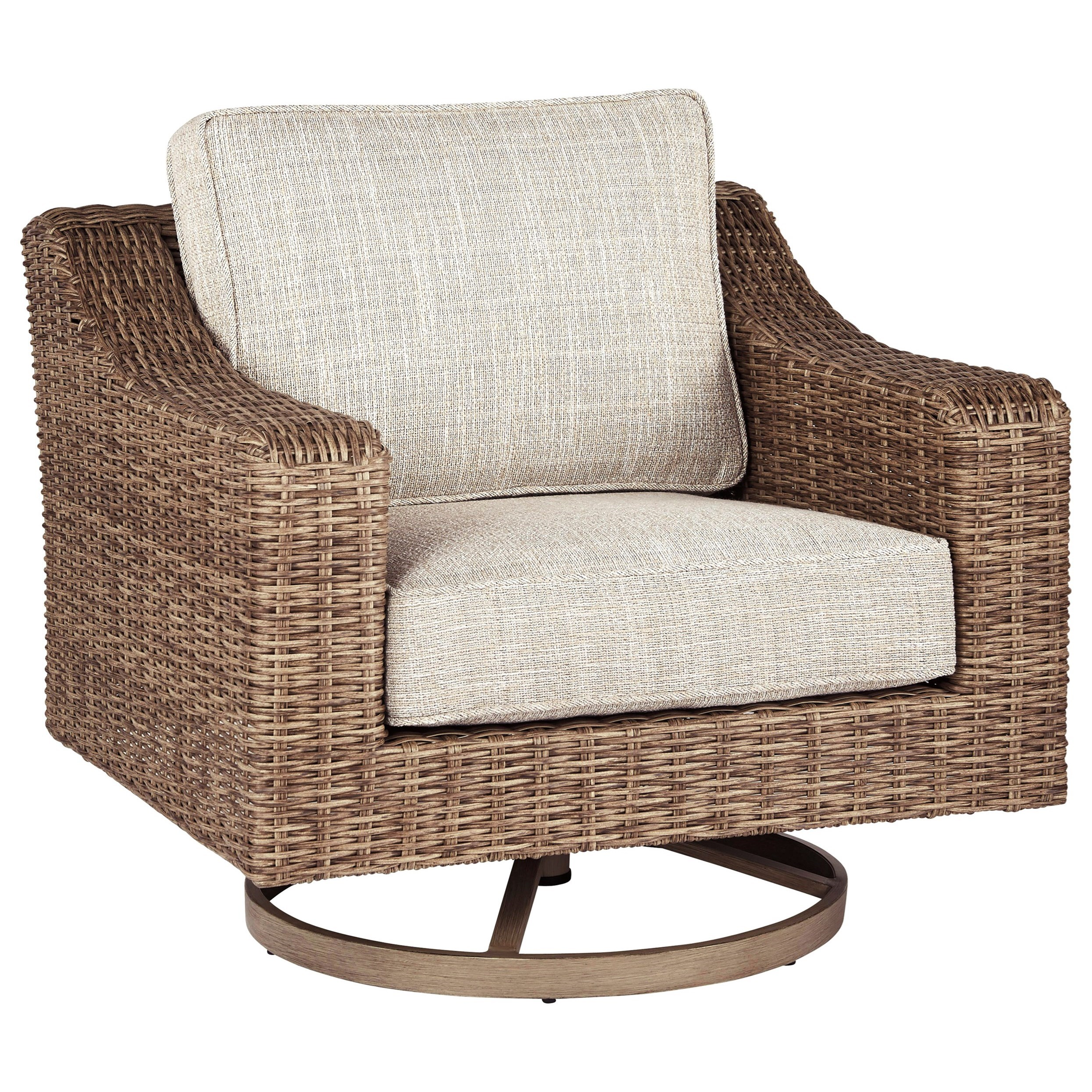 Beachcroft Swivel Lounge Chair by Signature Design by Ashley at HomeWorld Furniture