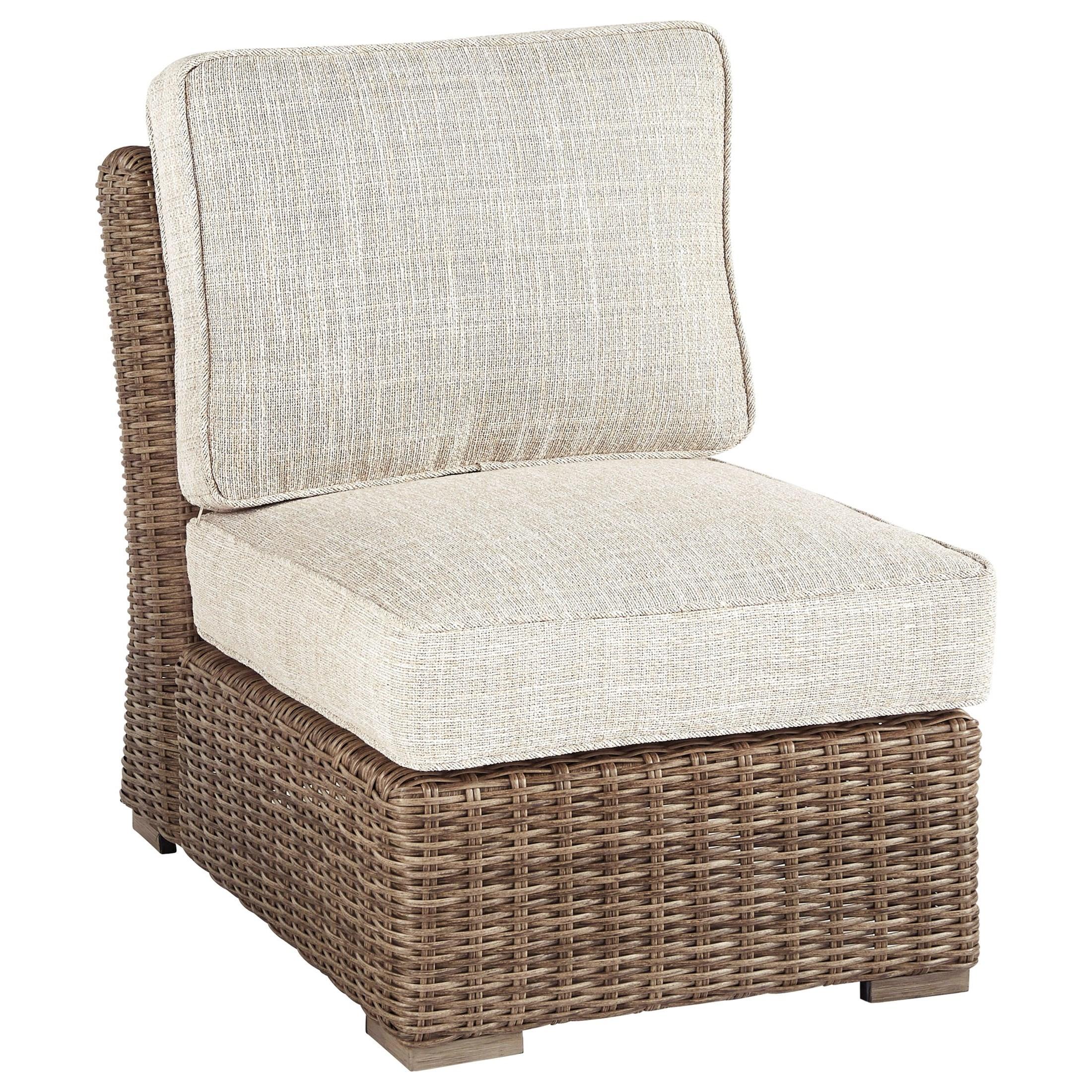 Armless Chair with Cushion