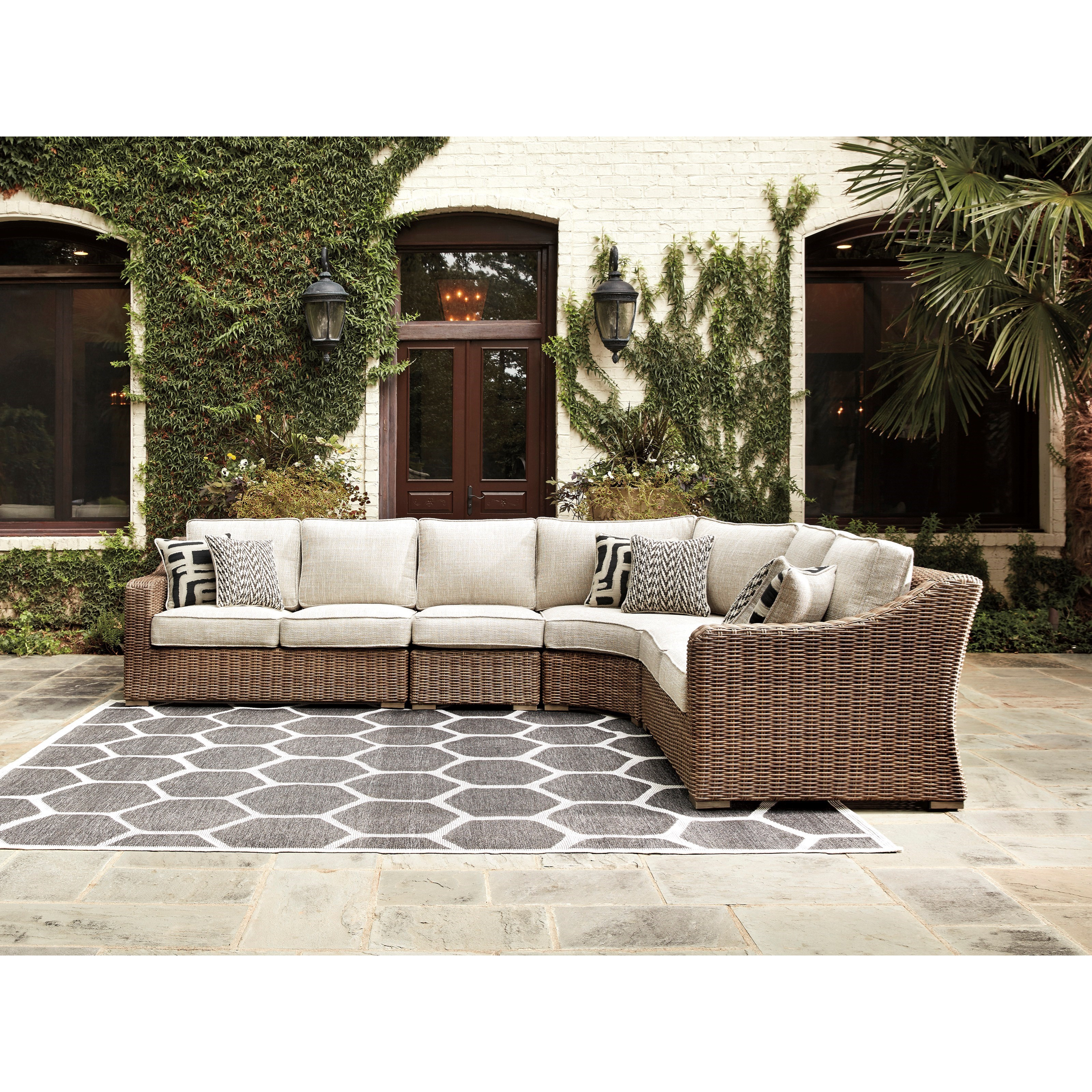 Beachcroft 4 Piece Sectional by Signature at Walker's Furniture