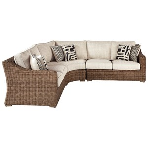4 Piece Resin Wicker Sectional Set