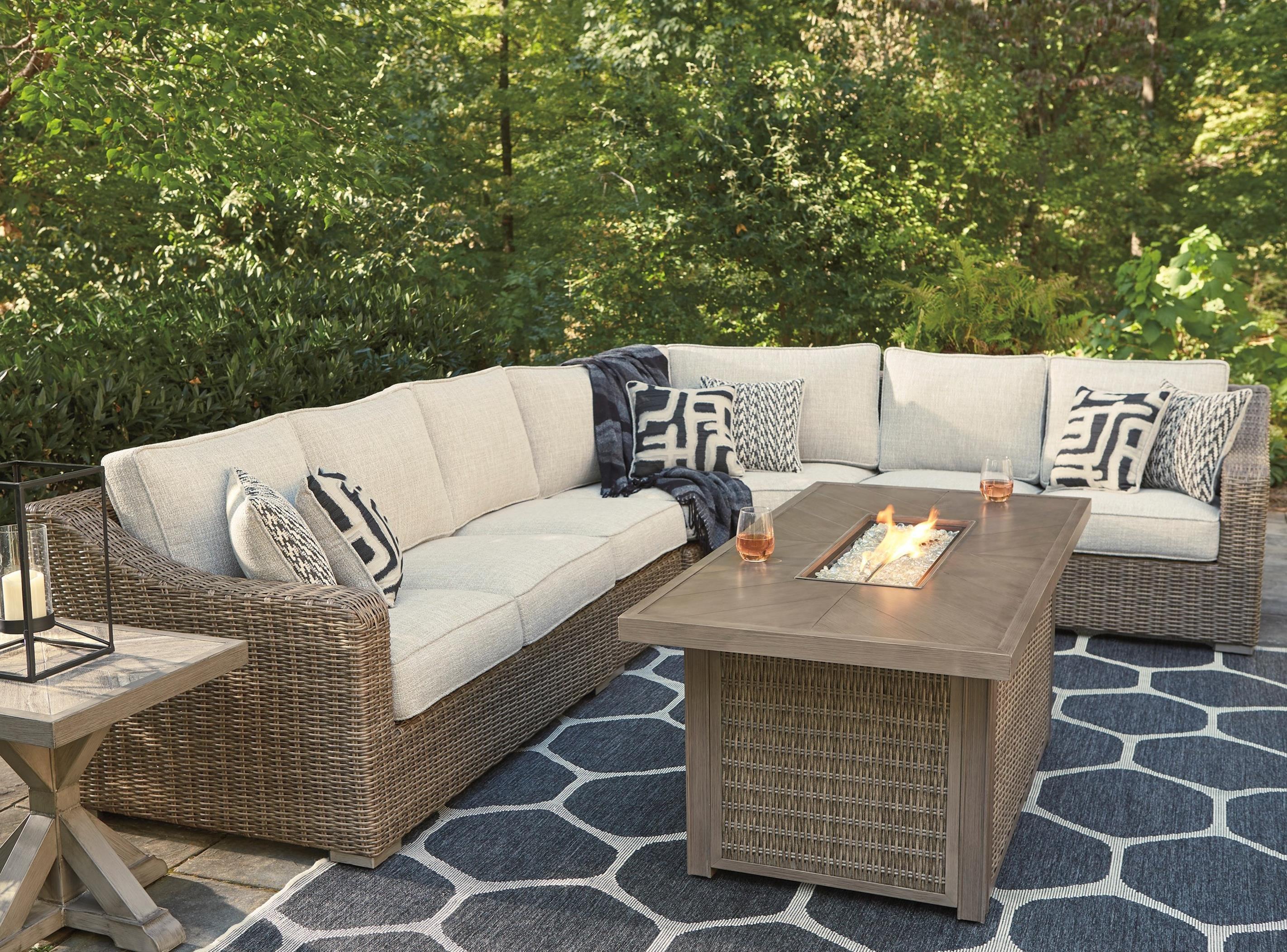Beachcroft Outdoor Conversation Set by Signature at Walker's Furniture