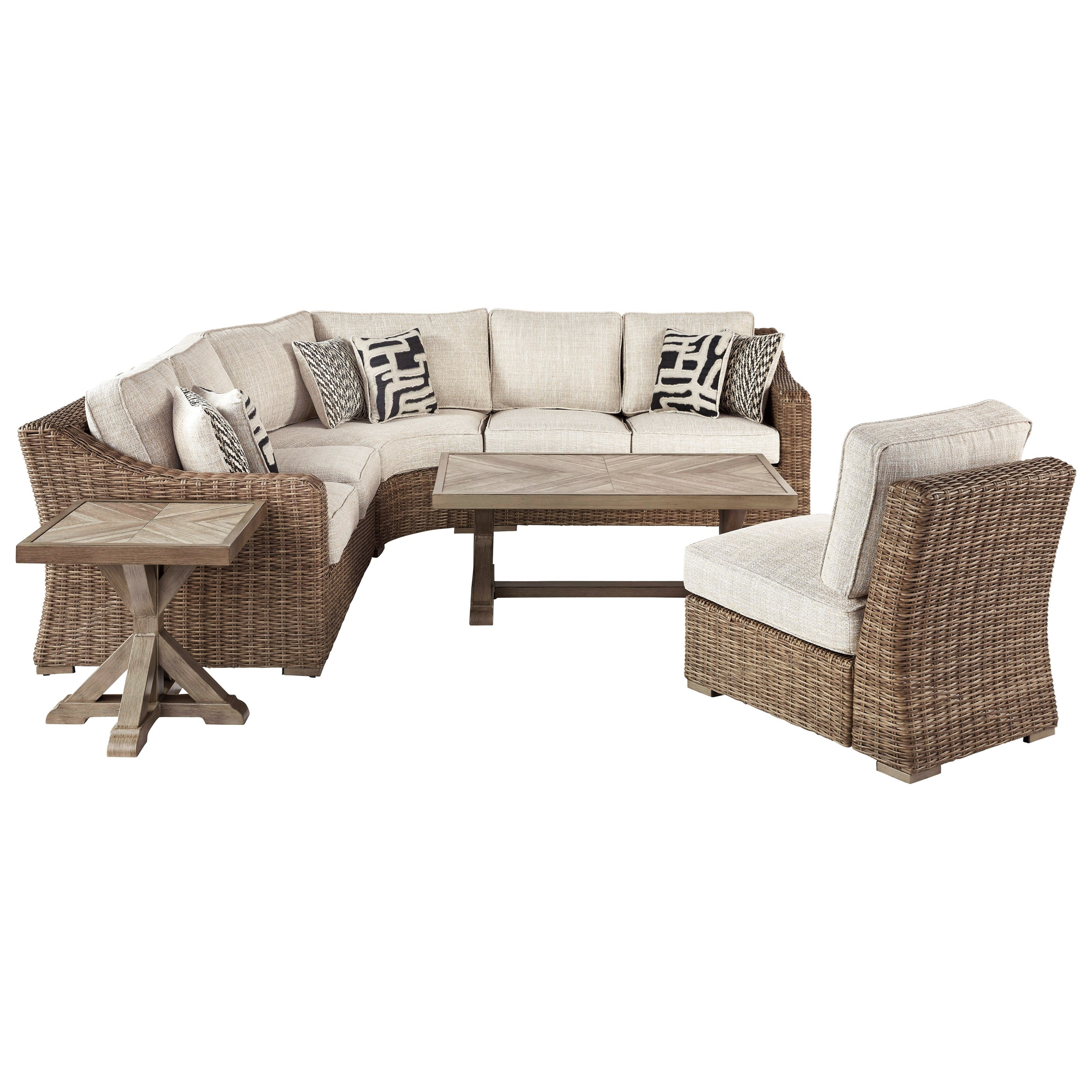 Beachcroft Outdoor Conversation Set by Signature Design at Fisher Home Furnishings
