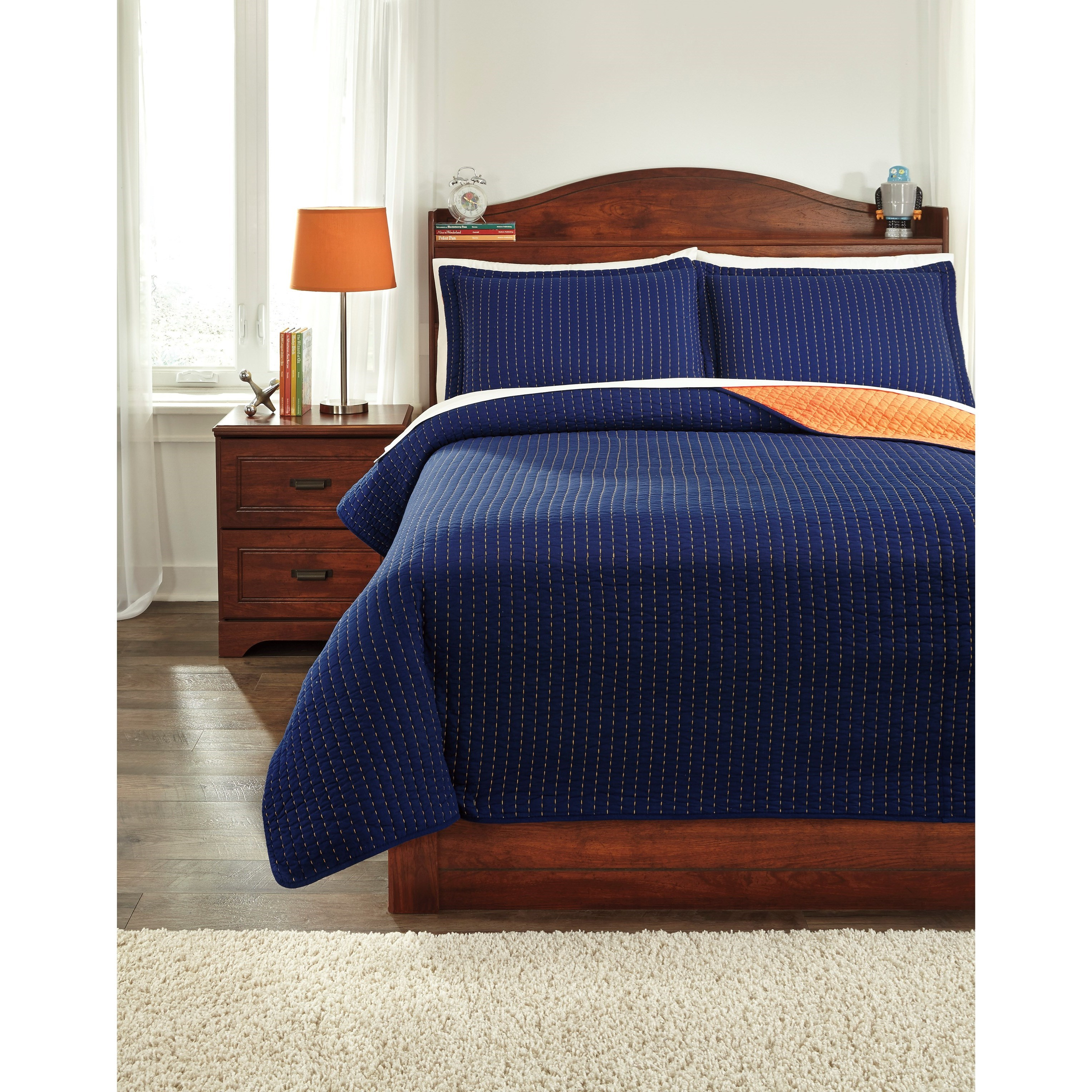 Bedding Sets Full Dansby Coverlet Set by Signature Design at Fisher Home Furnishings