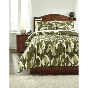 Signature Design by Ashley Bedding Sets Full Dagon Camouflage Comforter Set