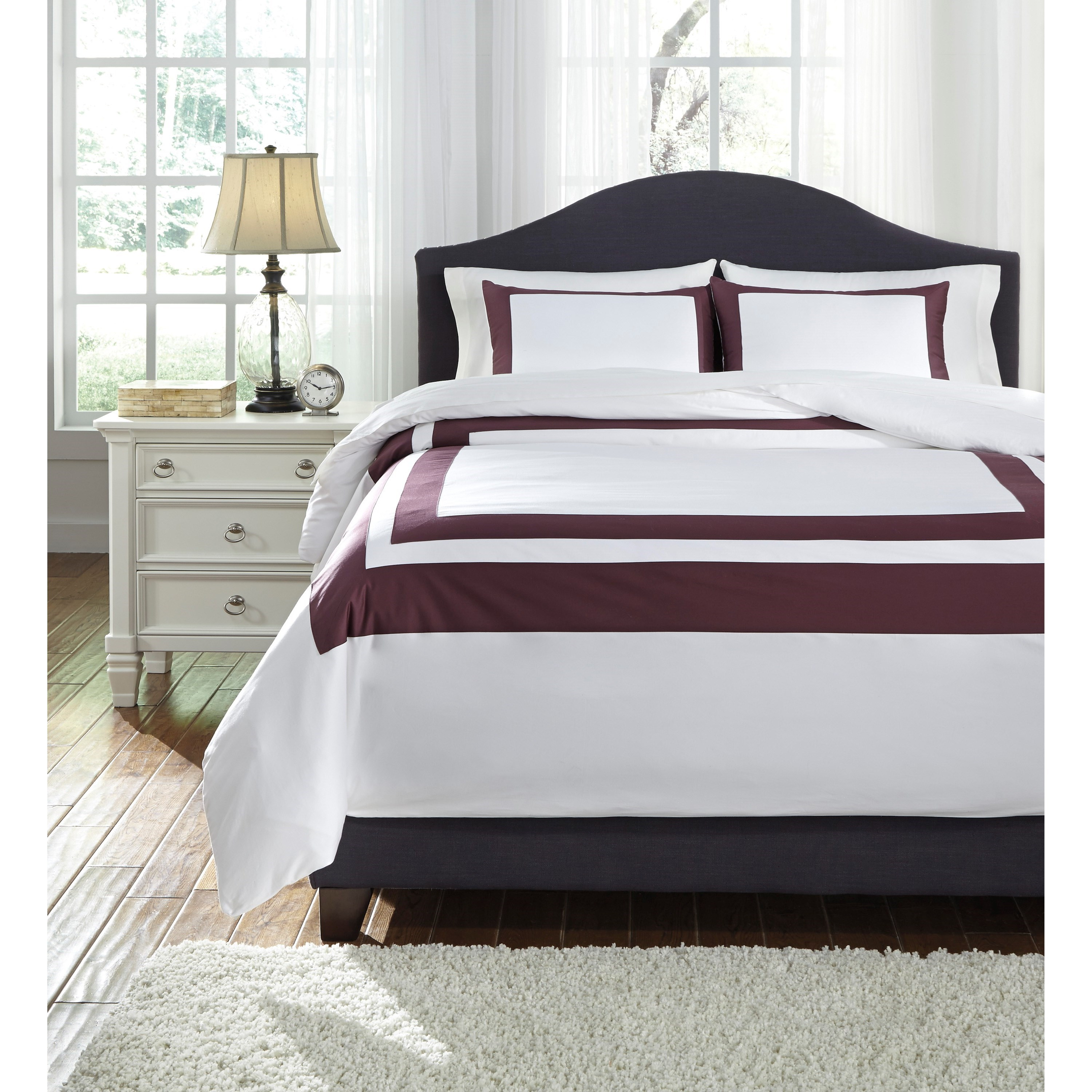 Bedding Sets Queen Daruka Duvet Cover Set by Signature Design by Ashley at Lapeer Furniture & Mattress Center