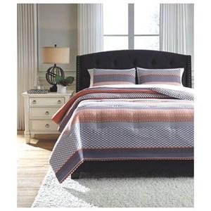 Signature Design by Ashley Bedding Sets King Anjanette 3-Piece King Comforter Set