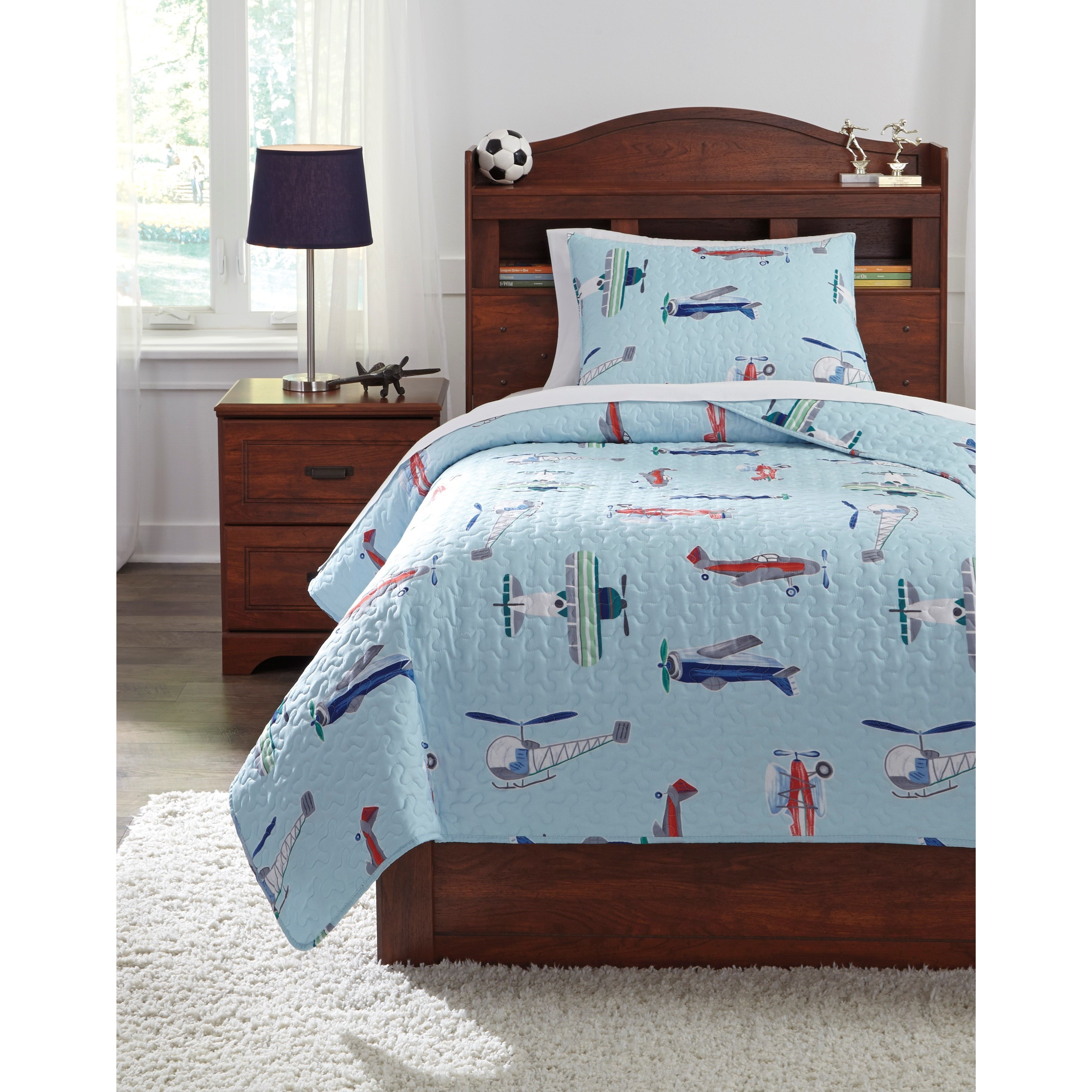 Bedding Sets Twin McAllen Quilt Set by Signature Design by Ashley at Northeast Factory Direct