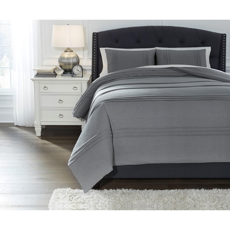 Bedding Sets King Mattias Slate Blue Comforter Set by Signature Design by Ashley at Northeast Factory Direct