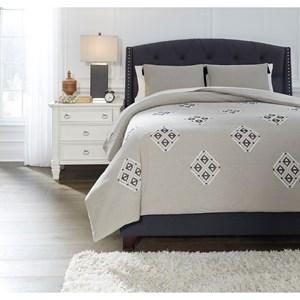 Queen Jawanza Gray Comforter Set