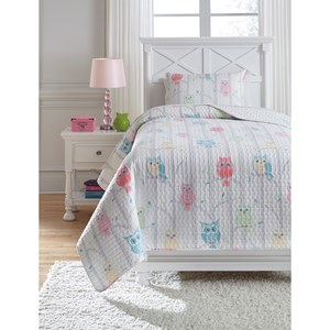 Signature Design by Ashley Bedding Sets Twin Lucille Multi Coverlet Set