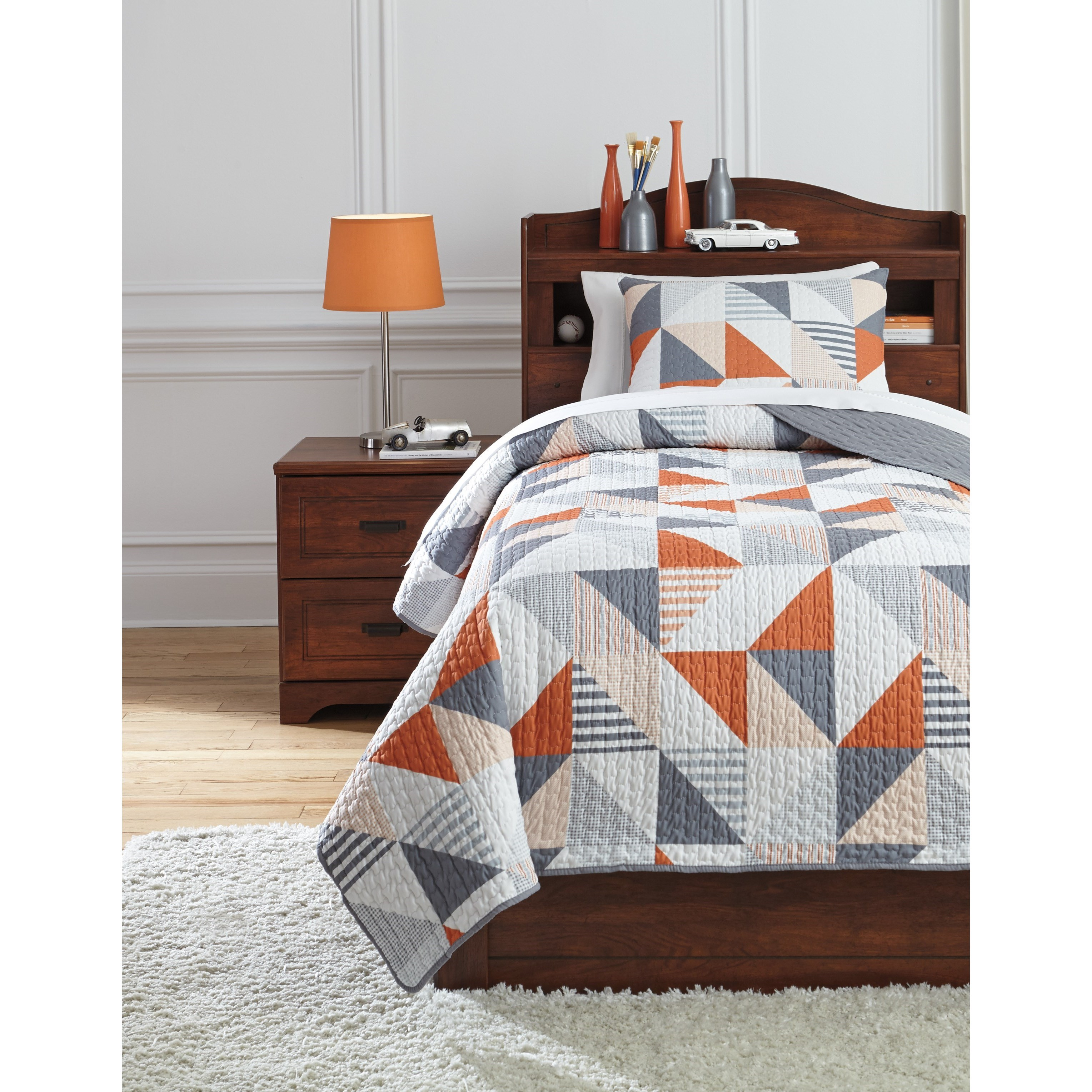 Bedding Sets Twin Layne Multi Coverlet Set by Signature Design by Ashley at Zak's Warehouse Clearance Center