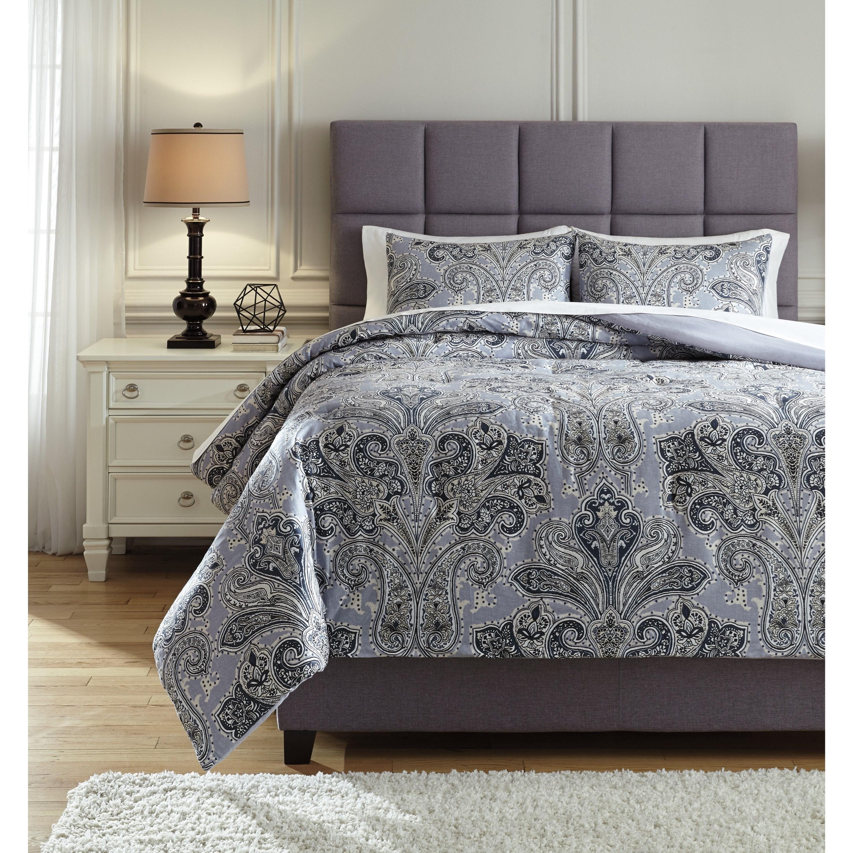 Bedding Sets Queen Susannah Blue/Cream Comforter Set at Rotmans