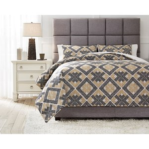 Queen Scylla Brown/Black Comforter Set