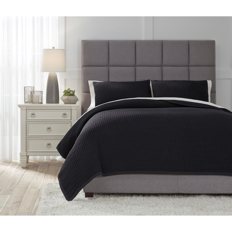 Bedding Sets Queen Thornam Black Coverlet Set at Ruby Gordon Home