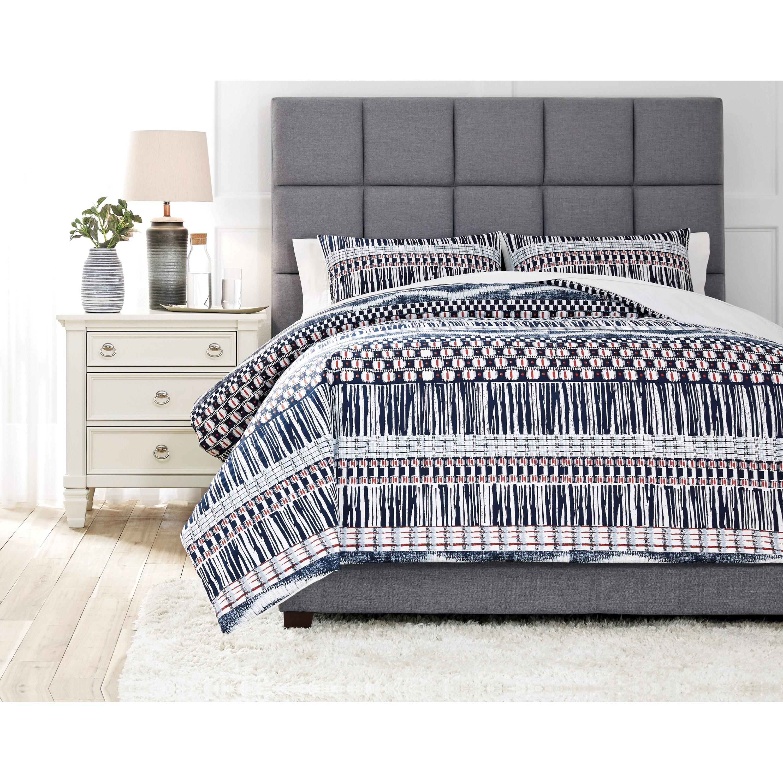 Bedding Sets Shilliam Navy/Rust King Comforter Set by Ashley (Signature Design) at Johnny Janosik