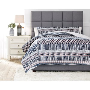 Shilliam Navy/Rust Queen Comforter Set