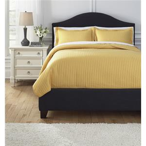 Signature Design by Ashley Bedding Sets Queen Raleda Yellow Comforter Set
