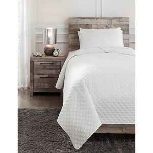 Twin Ryter White Coverlet Set