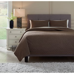 Queen/Full Ryter Brown Coverlet Set