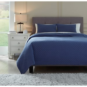 Queen/Full Ryter Navy Coverlet Set