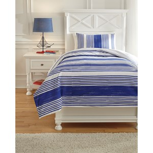 Signature Design by Ashley Bedding Sets Twin Taries Blue Duvet Cover Set