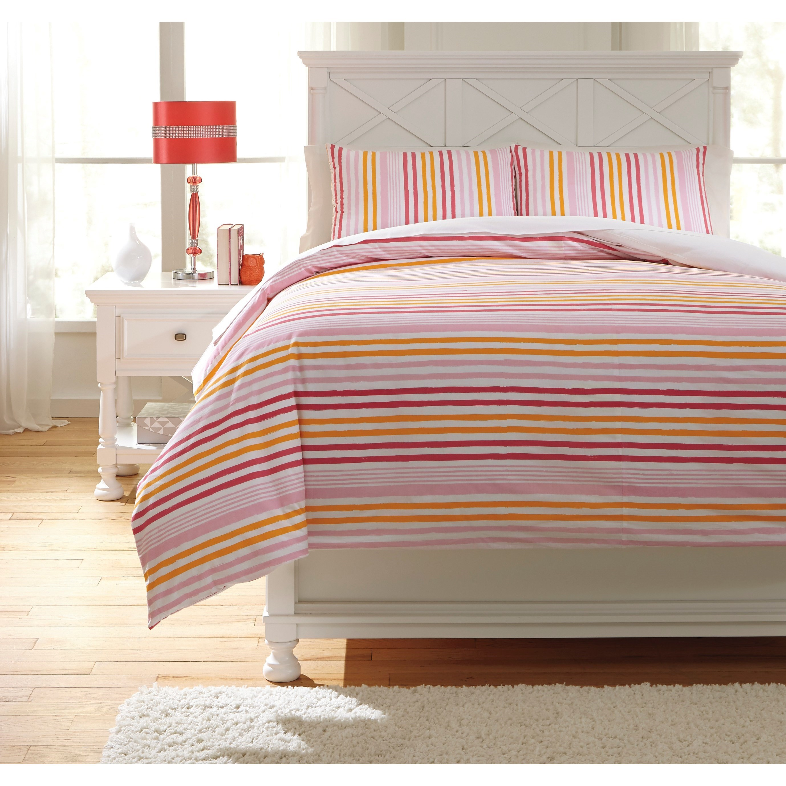 Bedding Sets Full Genista Multi Duvet Cover Set by Signature Design by Ashley at Lapeer Furniture & Mattress Center