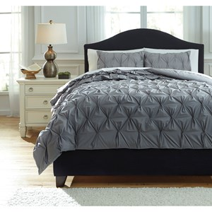 King Rimy Gray Comforter Set
