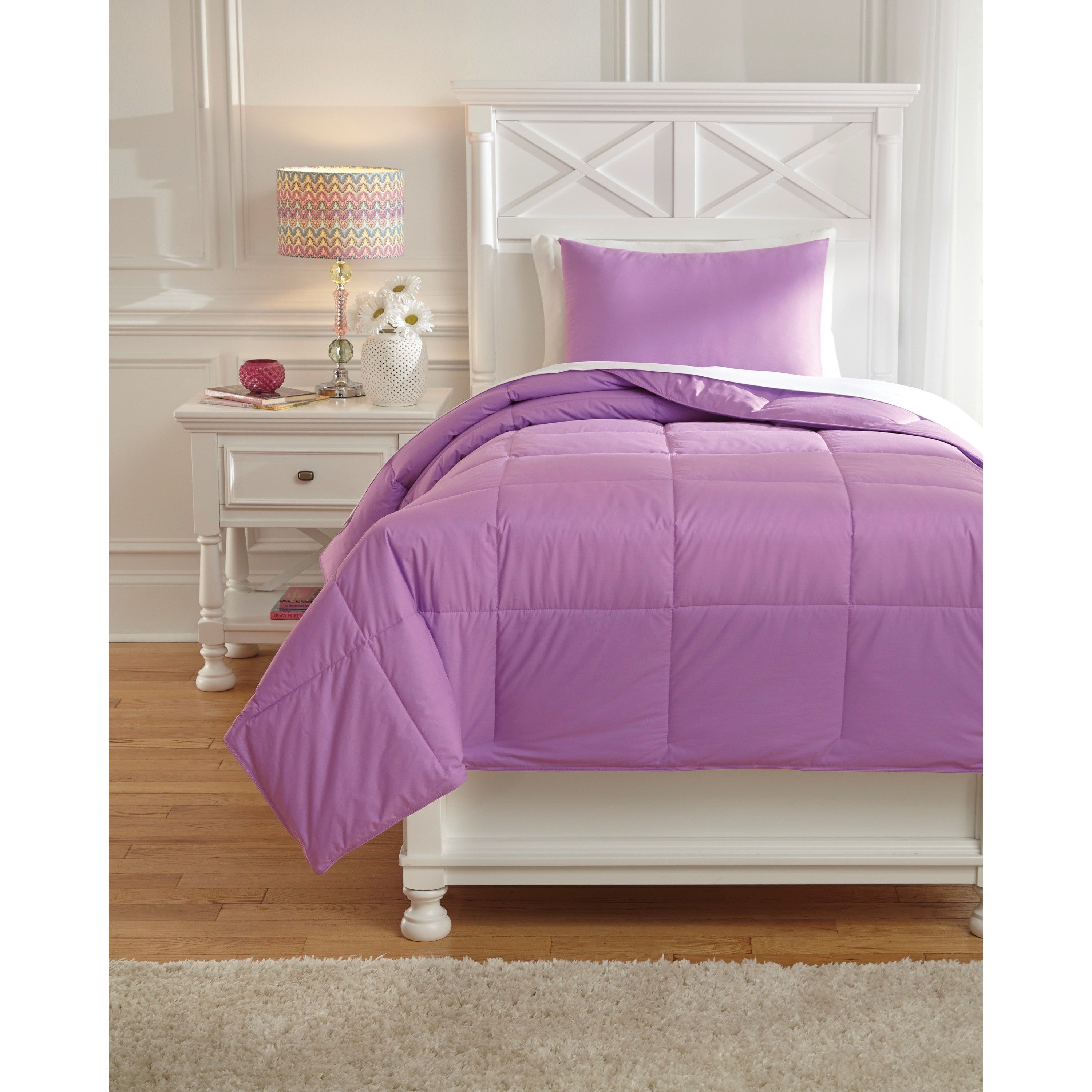 Bedding Sets Twin Plainfield Lavender Comforter Set by Signature Design by Ashley at Lapeer Furniture & Mattress Center