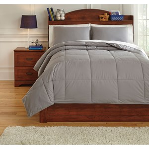 Signature Design by Ashley Bedding Sets Full Plainfield Gray Comforter Set