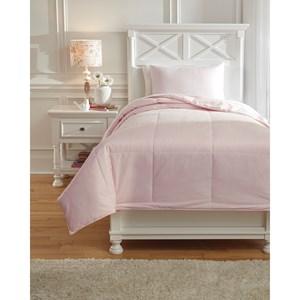 Signature Design by Ashley Bedding Sets Twin Plainfield Soft Pink Comforter Set
