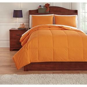 Signature Design by Ashley Bedding Sets Full Plainfield Orange Comforter Set