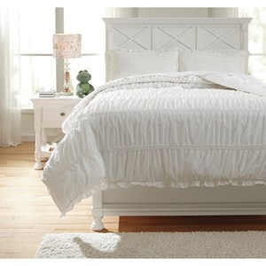 Signature Design by Ashley Bedding Sets Full Brently White Duvet Cover Set