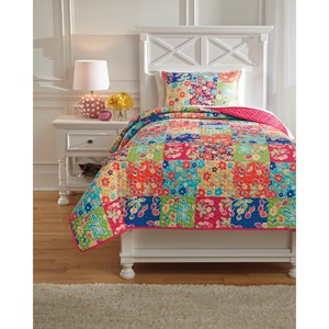 Signature Design by Ashley Bedding Sets Twin Belle Chase Quilt Set