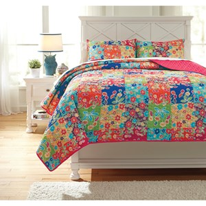 Signature Design by Ashley Bedding Sets Full Belle Chase Quilt Set