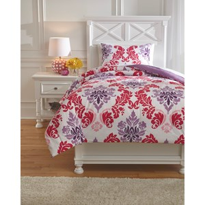 Signature Design by Ashley Bedding Sets Twin Ventress Berry Comforter Set