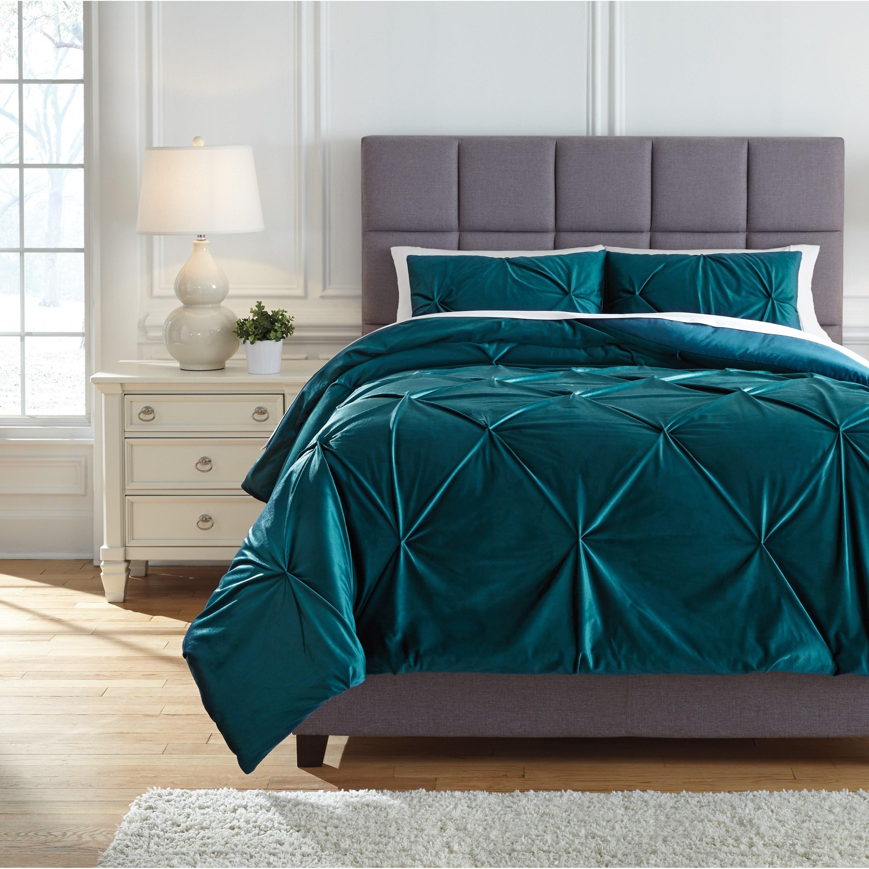 Bedding Sets Queen Meilyr Spruce Comforter Set by Signature Design by Ashley at Lapeer Furniture & Mattress Center