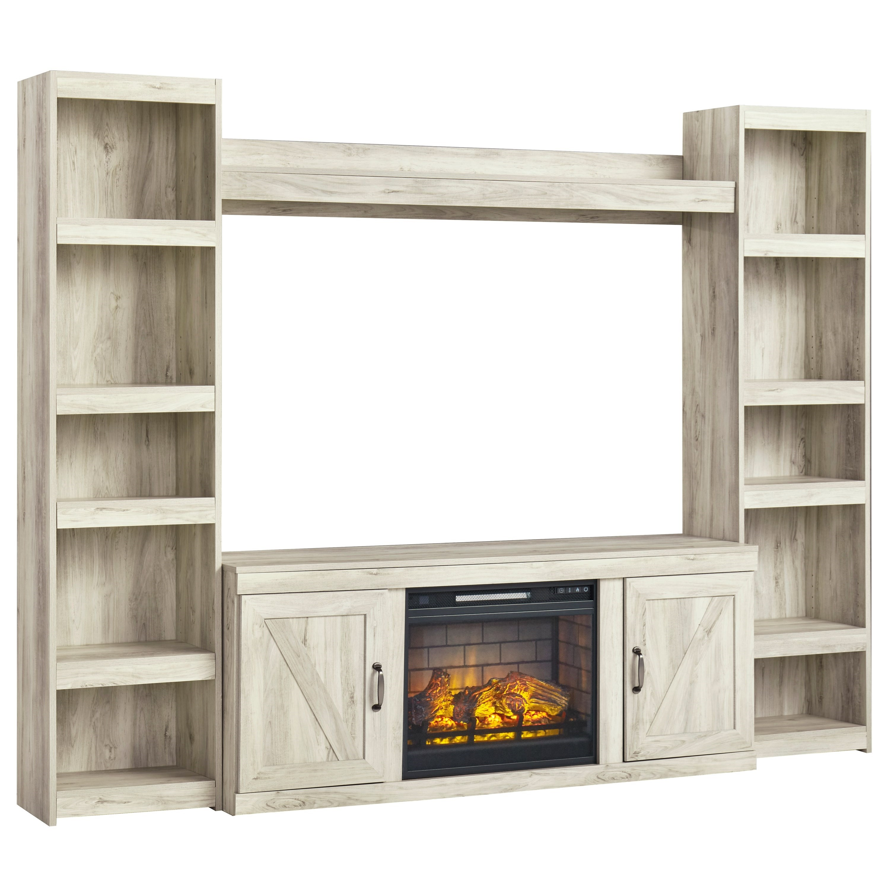 Bellaby TV Stand w/ Fireplace, Piers, & Bridge by Signature Design by Ashley at Rife's Home Furniture