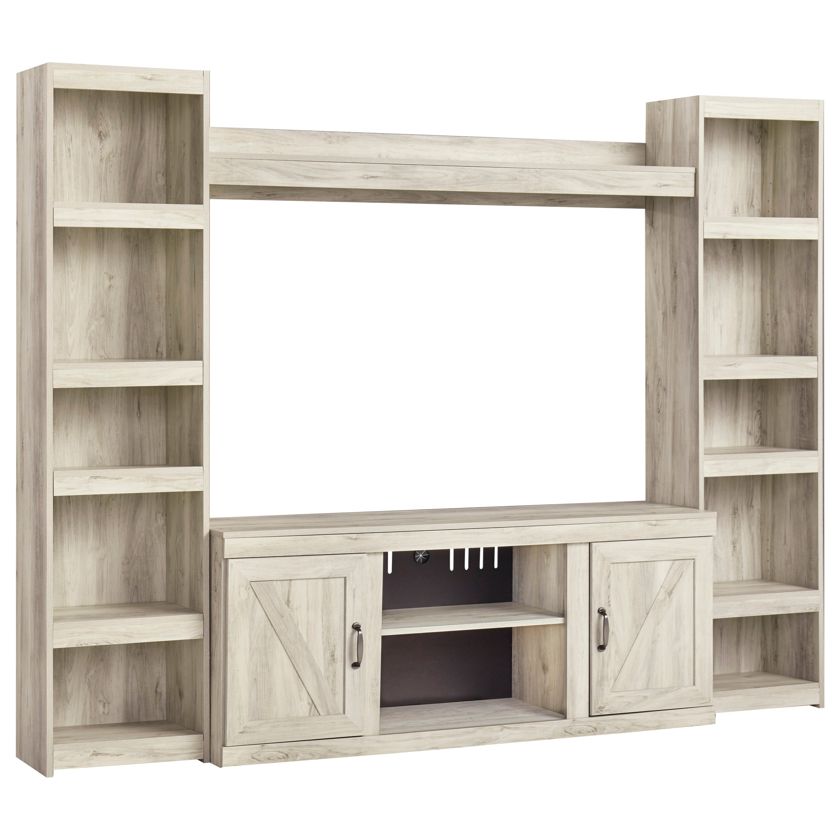 Bellaby TV Stand with 2 Piers and Bridge by Signature Design by Ashley at Zak's Warehouse Clearance Center
