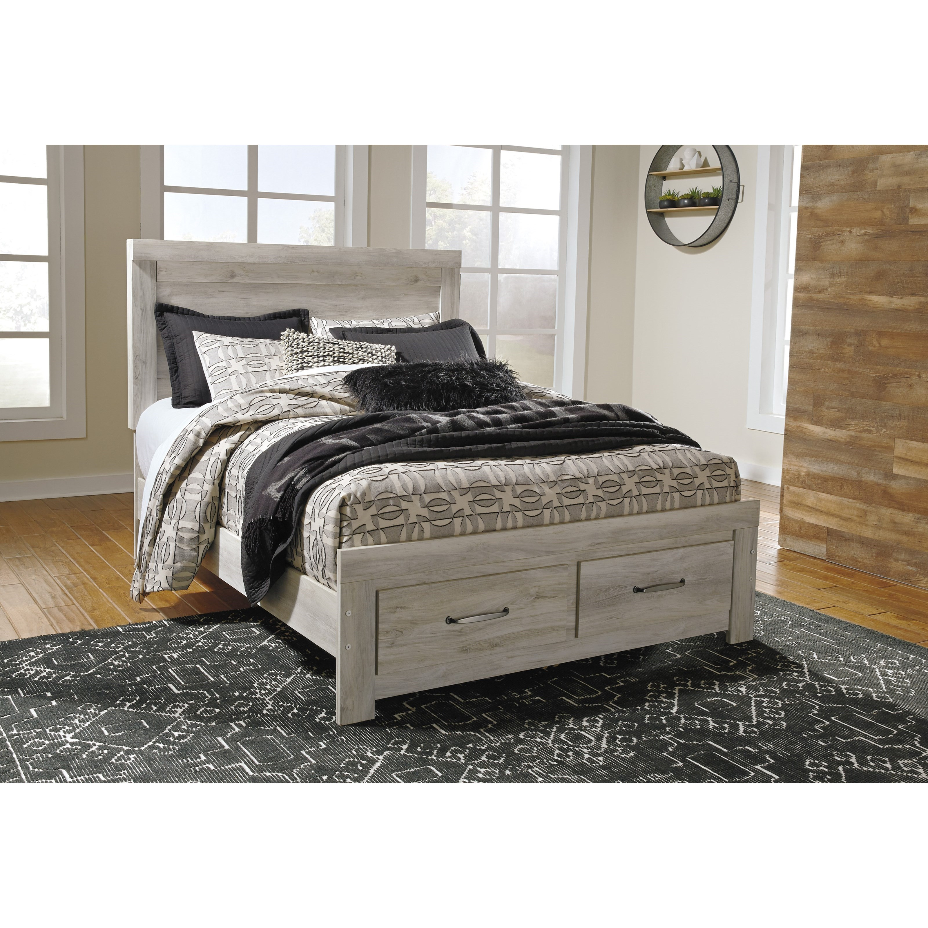 Bellaby Queen Panel Bed with Storage Footboard by Signature Design by Ashley at Household Furniture