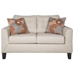 Contemporary Loveseat with Button Tufting