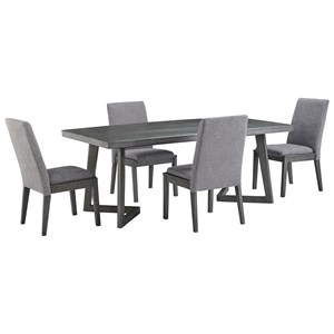 Contemporary Rectangular Dining Table with Distressed Finish