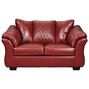 Contemporary Loveseat with Padded Arms