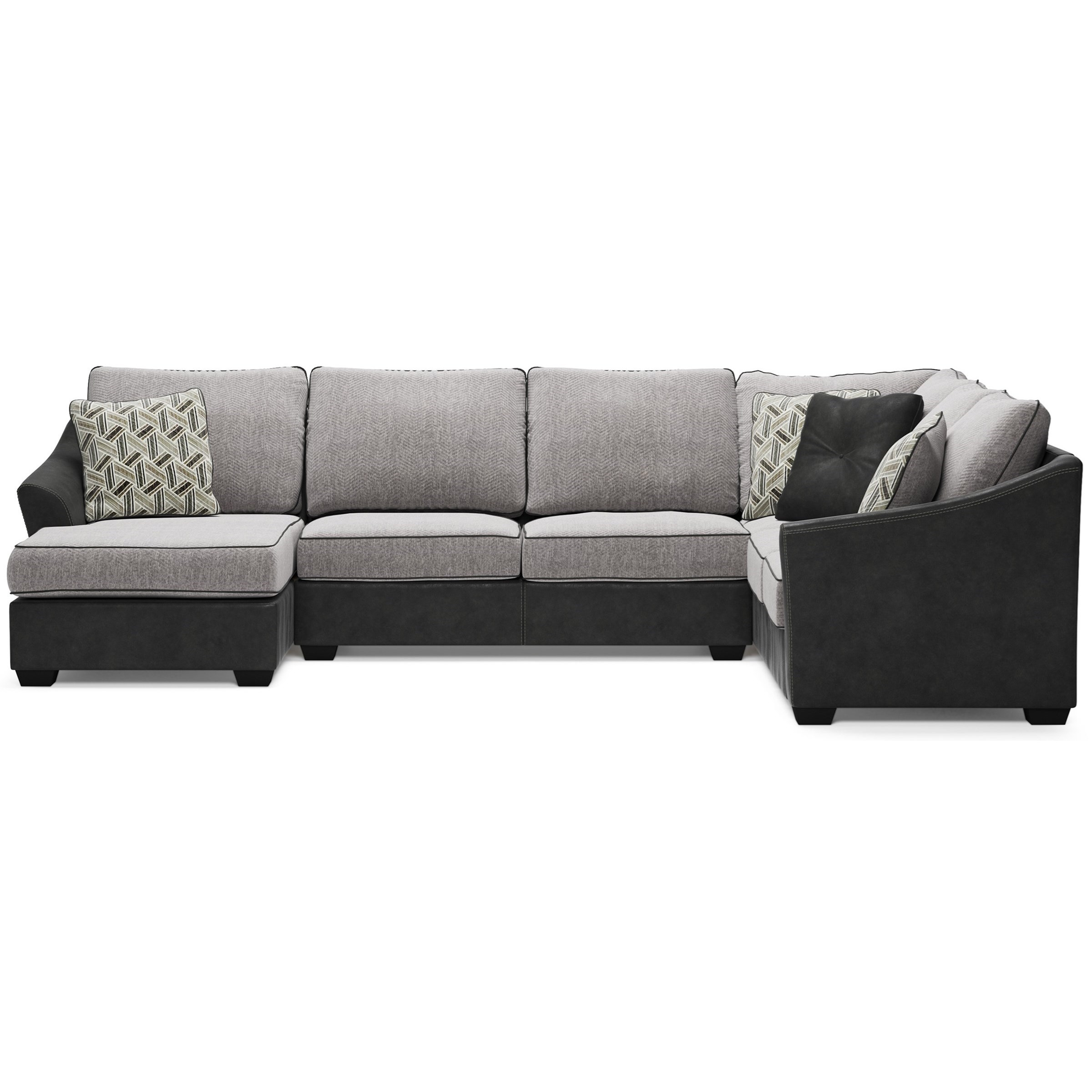 Bilgray Sectional with Left Chaise by Signature Design by Ashley at Zak's Warehouse Clearance Center