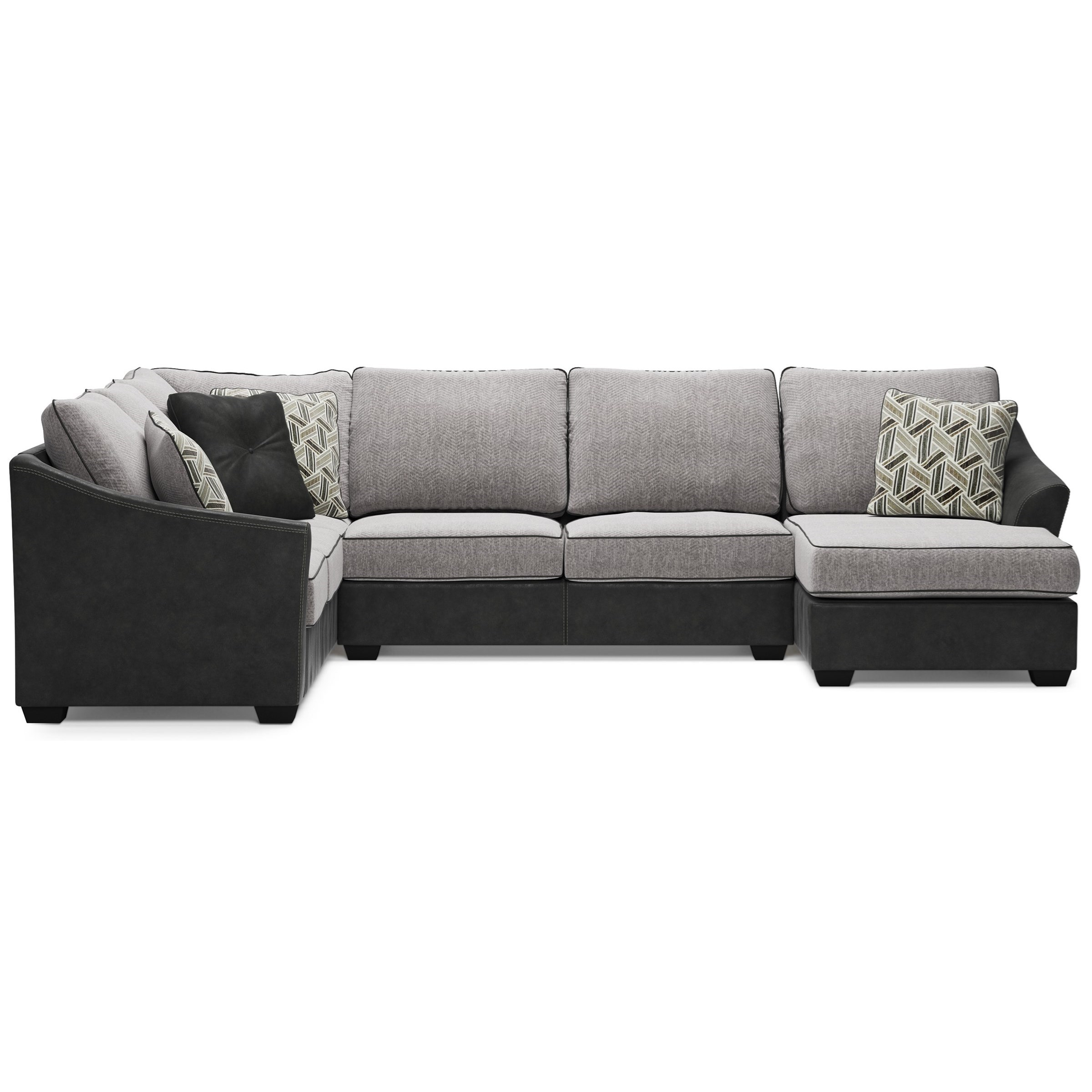 Bilgray Sectional with Right Chaise by Ashley (Signature Design) at Johnny Janosik