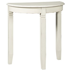 Small Demilune Accent Console Table