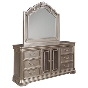Dresser with Mirror Panels & Bedroom Mirror