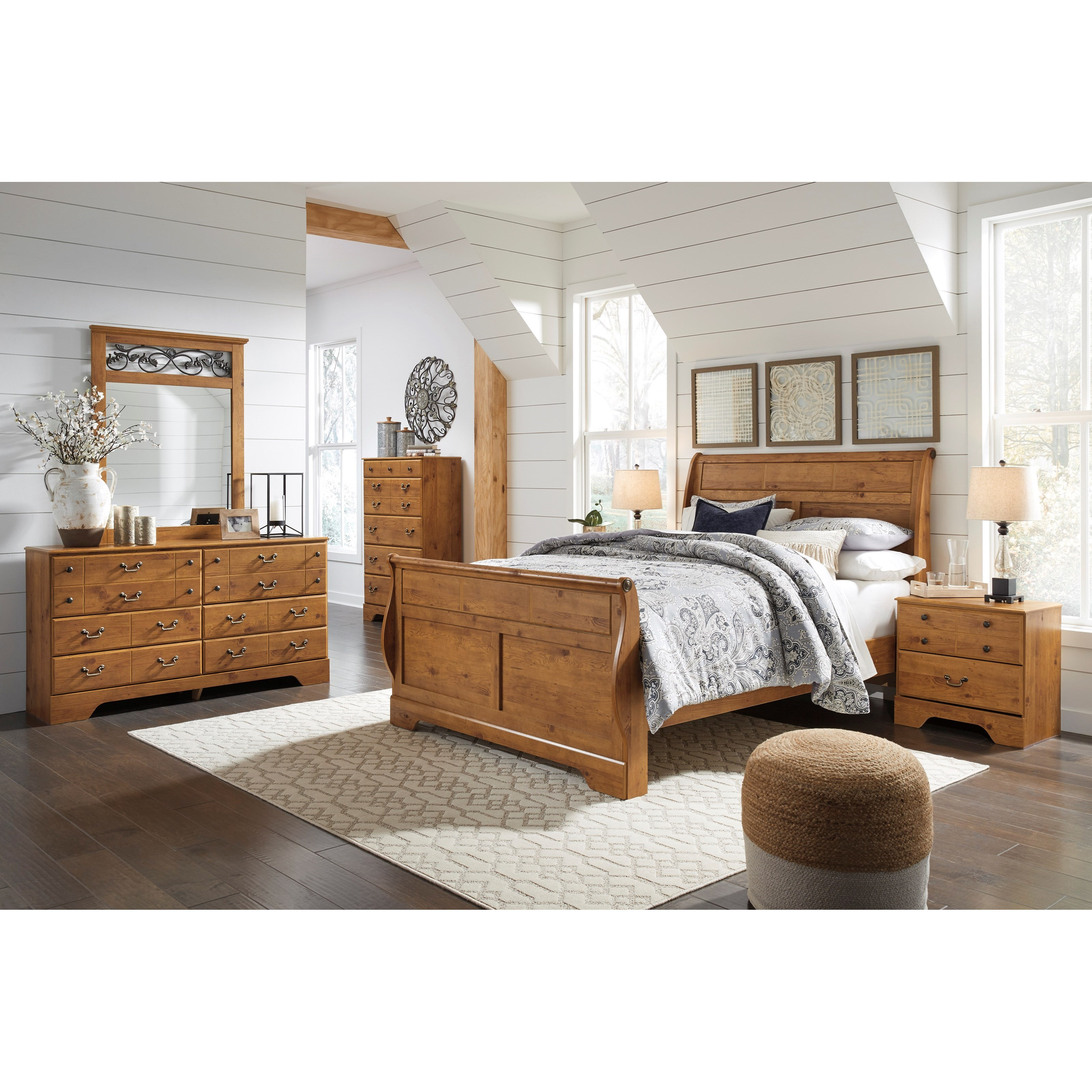 Bittersweet King Sleigh Bedroom Group by Signature Design by Ashley at Northeast Factory Direct