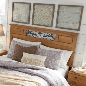 Full/Queen Panel Headboard with Scrolled Headboard Detail